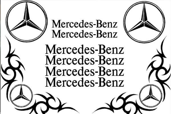 Mercedes Benz Sticker Set - Black