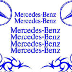 Mercedes Benz Sticker Set - Blue