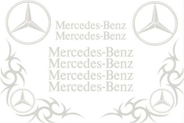 Mercedes Benz Sticker Set - Silver
