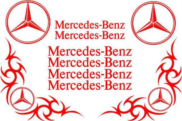 Mercedes Benz Sticker Set - Red
