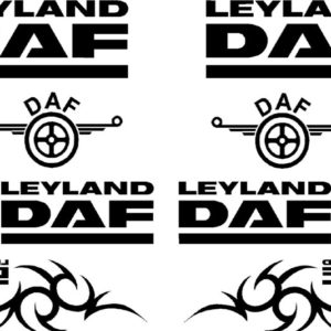 Leyland DAF Sticker Set - Black
