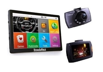 GPS Sat Nav and Dashcam Combo